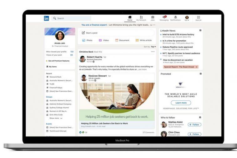 LinkedIn lance le design et pointe définitivement les `` histoires '' qui triomphent sur d'autres réseaux sociaux