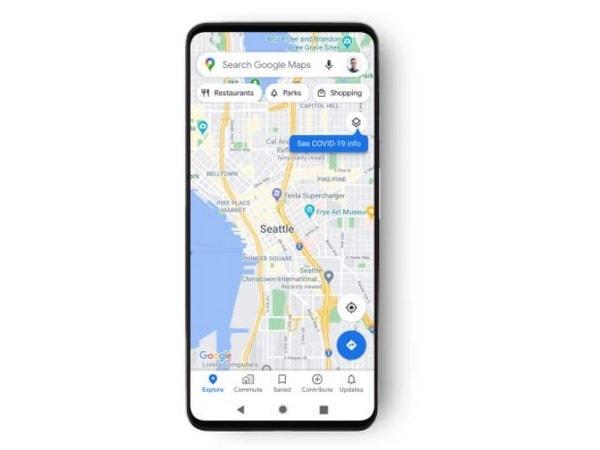 Informations sur Google Maps COVID-19