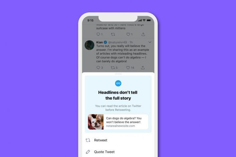 Twitter demandera aux utilisateurs de lire un article avant de le diffuser: après l'avoir testé avec certains utilisateurs, ils disent qu'il est efficace