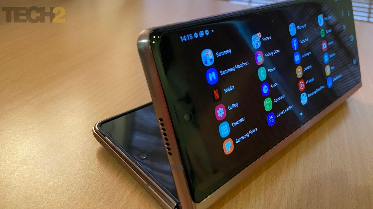 Samsung Galaxy Z Fold montré pour la représentation.  Image:tech2/Nandini Yadav