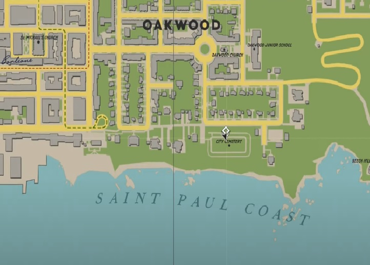 Une section de la carte de Mafia 1
