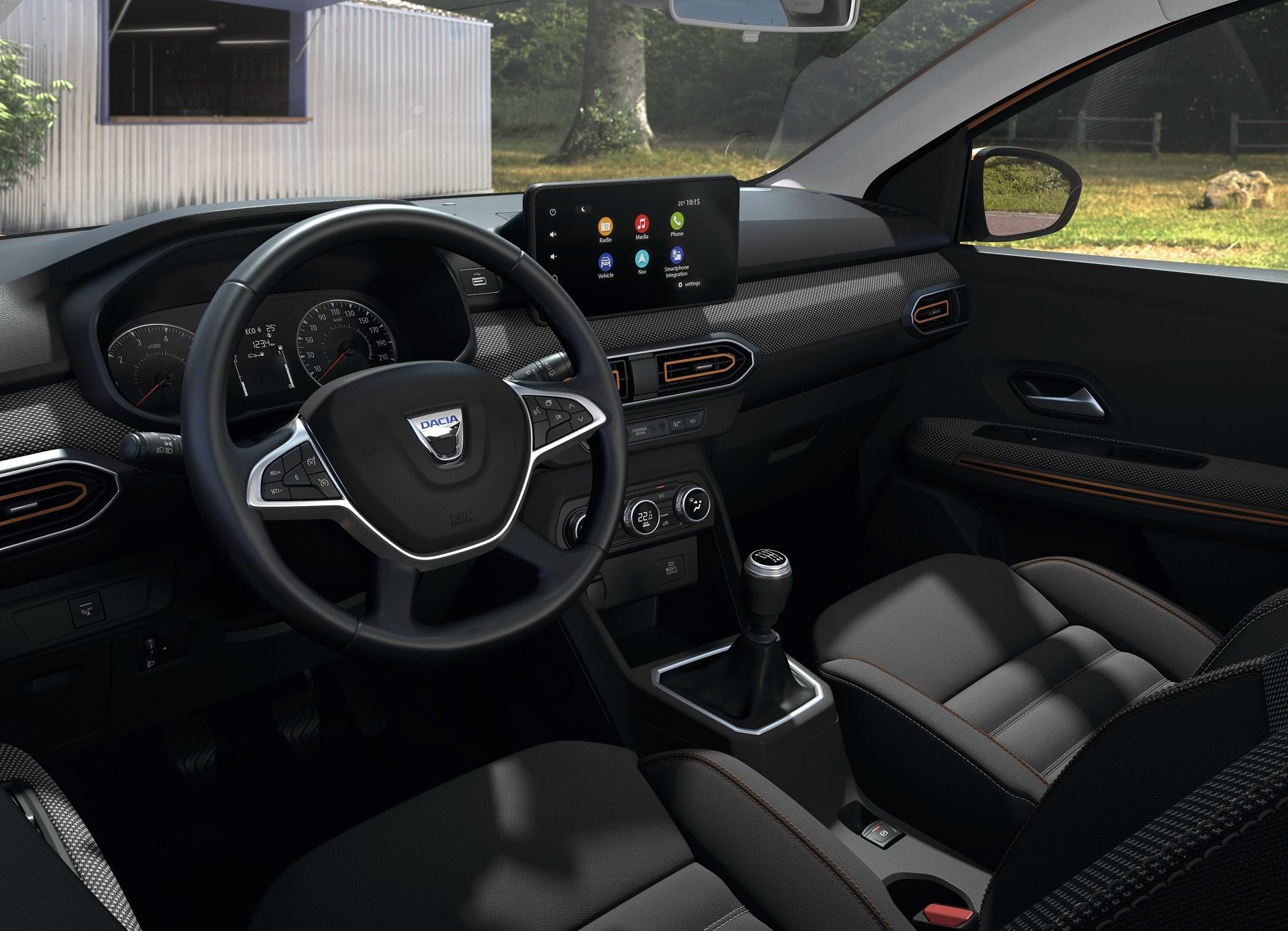 L'intérieur de la nouvelle Dacia Sandero