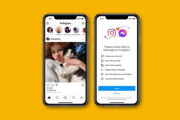 Facebook unifie officiellement les messages Messenger et Instagram: la première étape pour fusionner ses applications de messagerie