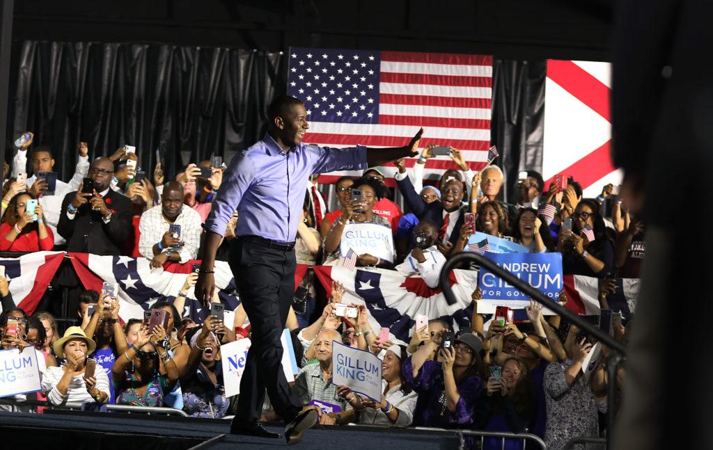 L'ancien candidat au poste de gouverneur démocrate de Floride Andrew Gillum, un nom qui figurait autrefois sur le ticket vice-présidentiel 2020. (Joe Raedle / Getty Images)