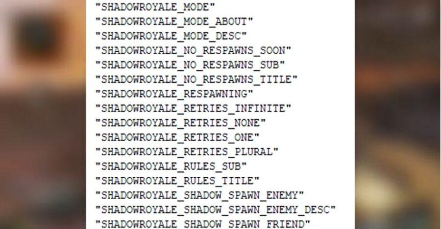 Shadow Royale a divulgué des détails, des légendes Apex