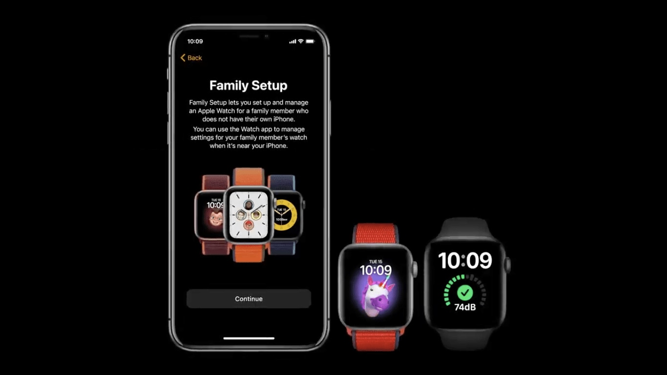 Fonction de configuration de la famille Apple Watch