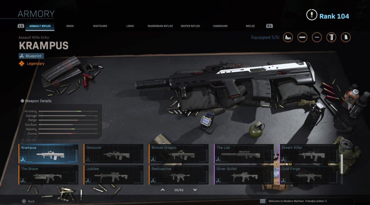 Ce sont les 10 armes les plus jouées de Warzone (27-08 au 03-09)