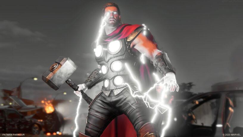 Thor couvert d'éclairs
