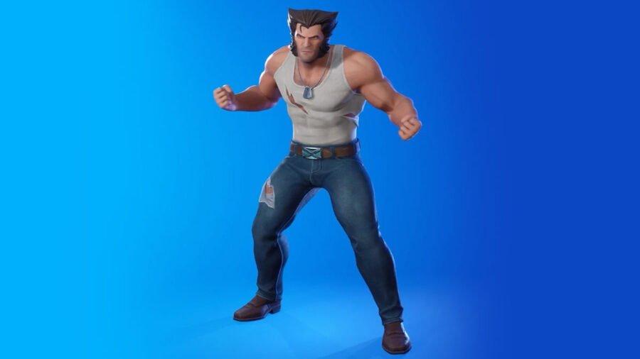 Corps entier de style Wolverine Logan dans Fortnite