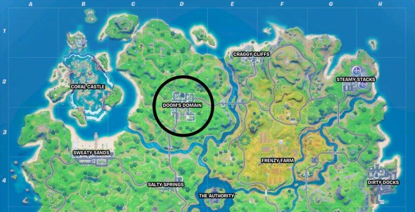 Emplacement de la carte du domaine de Doom