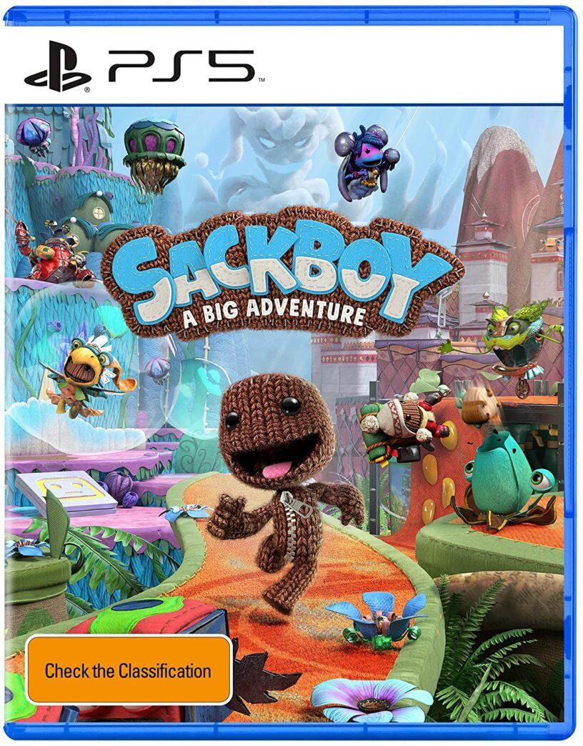 L'art de la boîte officielle du prochain jeu PlayStation 5 Sackboy: A Big Adventure