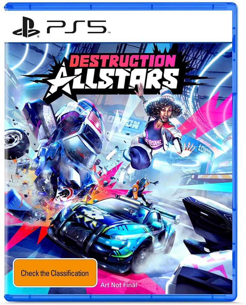 Un support de palce pour le jeu PlayStation 5 Destruction Allstars