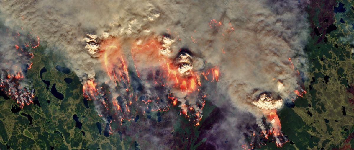 Des Incendies De Zombies éclatent Dans L'arctique, Provoquant Des Incendies