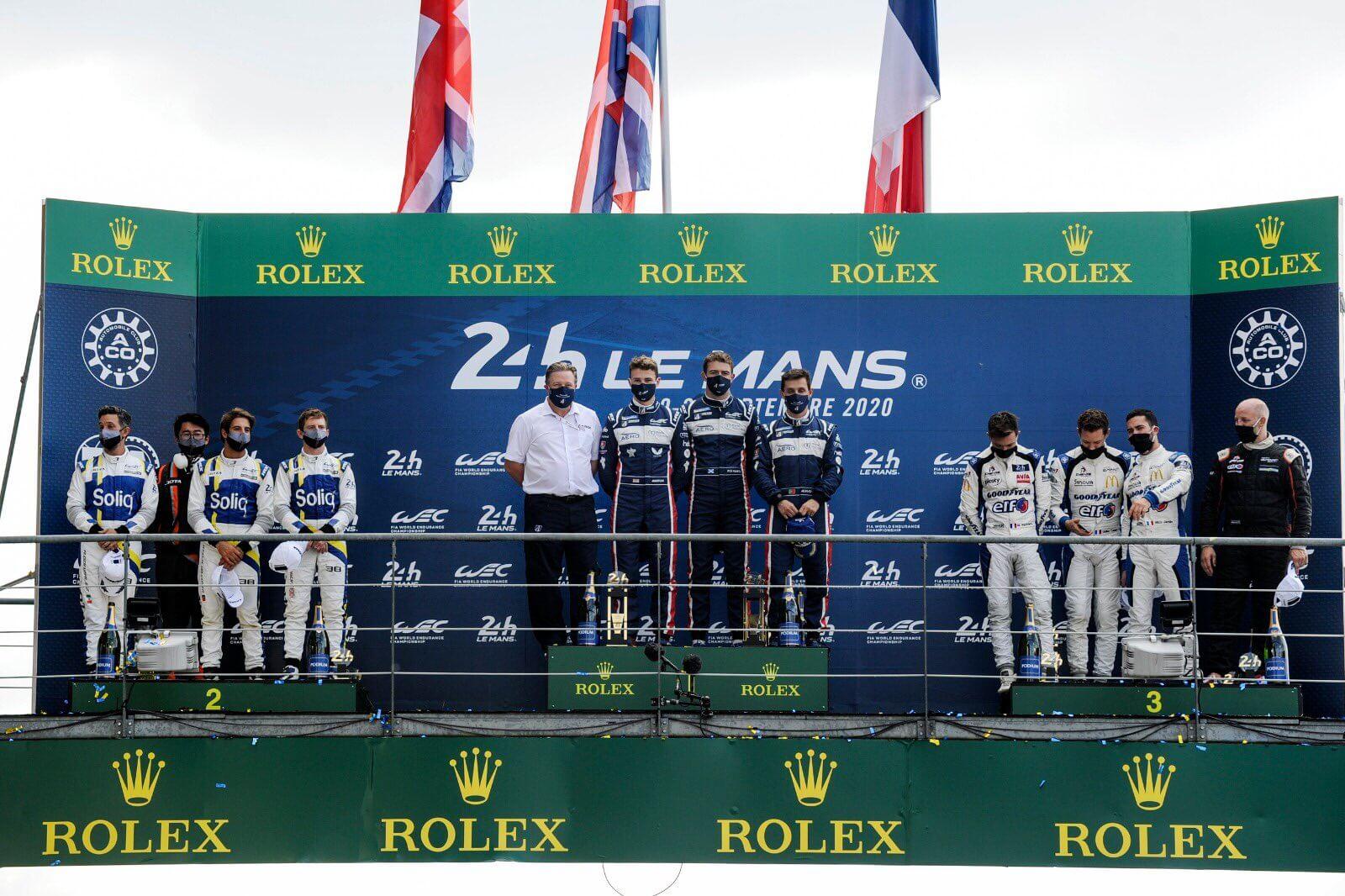 Podium LMP2 Le Mans