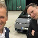 Elon Musk A (brièvement) Réalisé Une Id.3 Avec Le Président