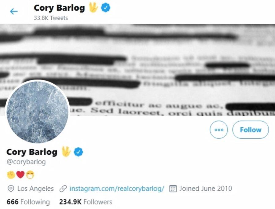 L'en-tête Twitter de Cory Barlog, directeur créatif de Santa Monica