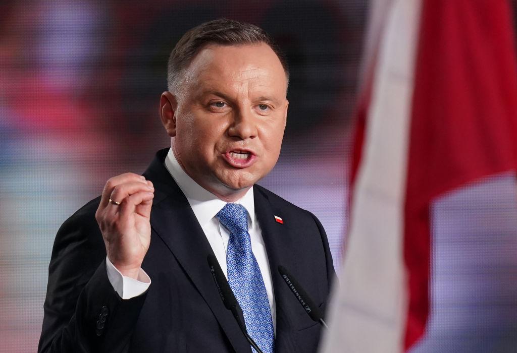 Président polonais et membre du parti de droite Droit et justice (PiS), Andrzej Duda.  (Sean Gallup / Getty Images)