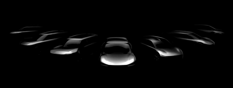 Première image publiée des sept futurs véhicules électriques de Kia