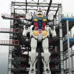 Le Gundam japonais grandeur nature fait ses premiers pas: c'est ainsi qu'un fusible de 20 mètres se déplace