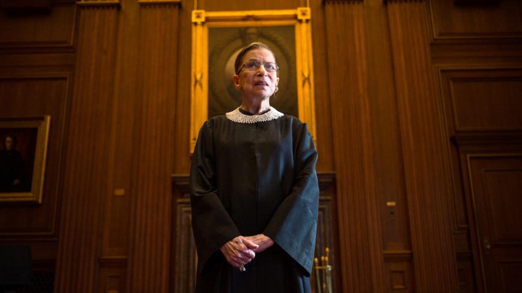La juge de la Cour suprême Ruth Bader Ginsburg. (Nikki Kahn / The Washington Post via Getty Images)