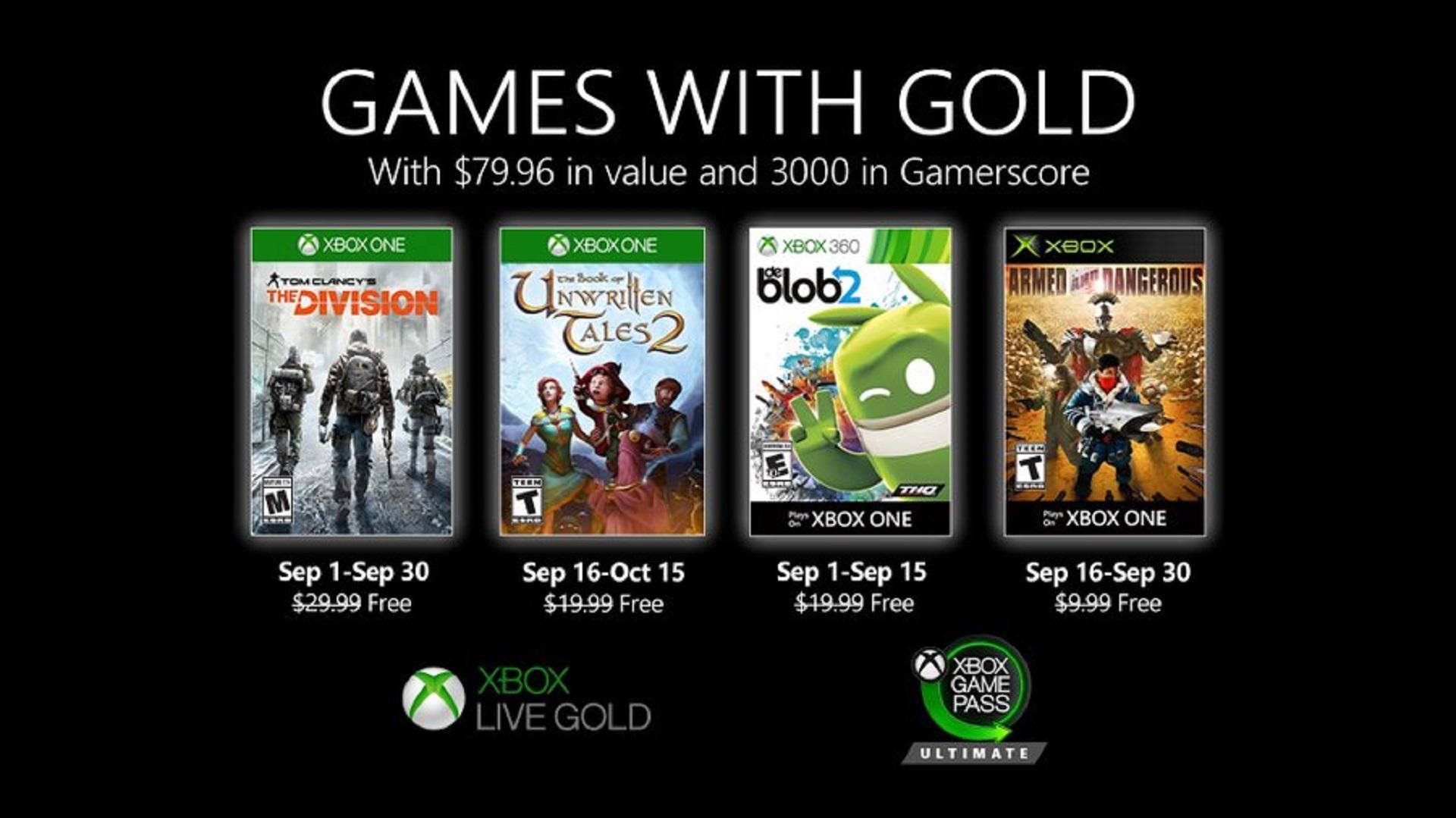 Le Premier Lot Des Gold Games De Septembre Est Maintenant