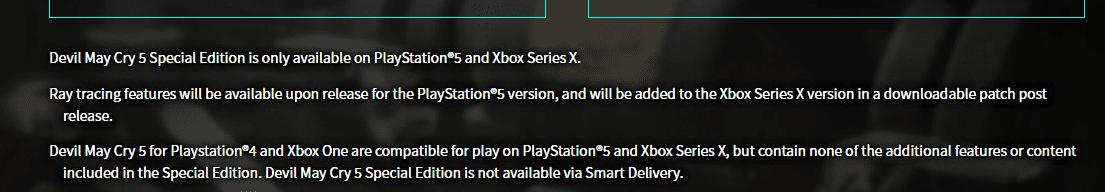 Le traçage de rayons Devil May Cry 5 Special Edition arrive sur Xbox Series X plus tard que PS5