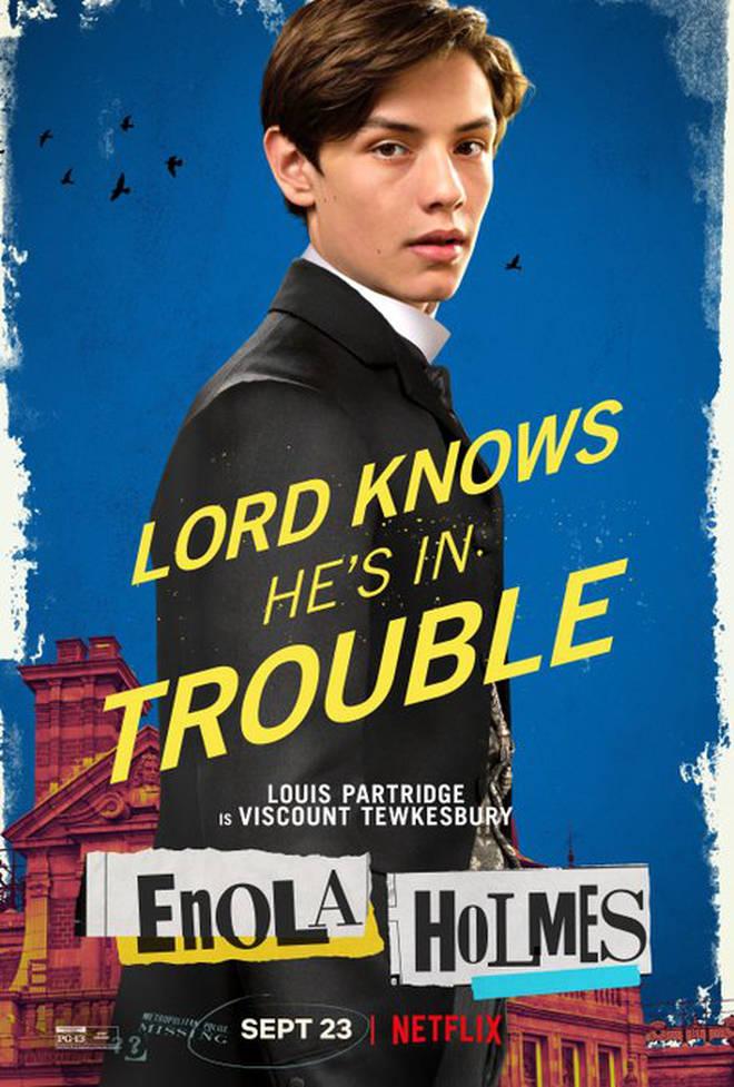 Louis Partridge comme Tewkesbury dans Enola Holmes