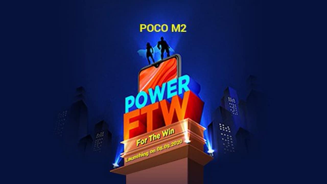 Poco M2 sera livré avec un écran FHD +, confirme Poco avant le lancement le 8 septembre