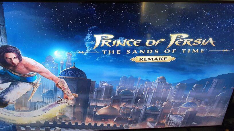 Un écran de titre d'ouverture de Prince of Persia Remake qui a fui