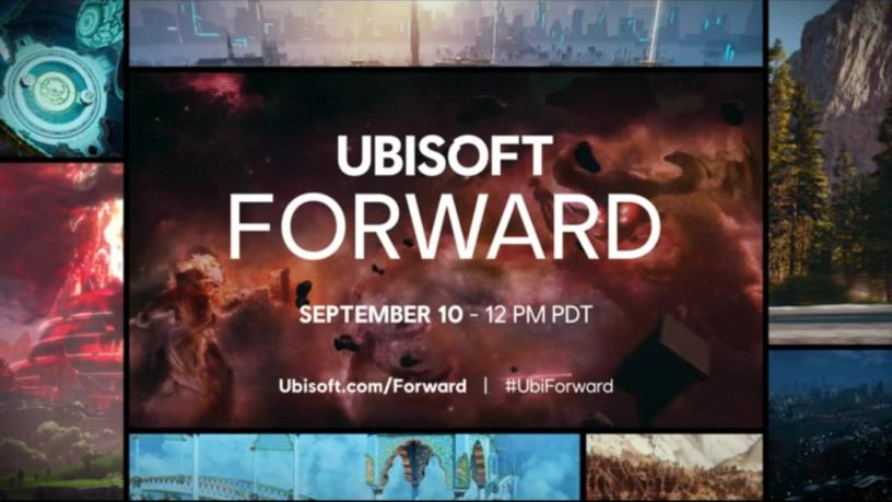 Une image poignée par Ubisoft montrant la date et l'heure auxquelles Ubisoft Forward se produit