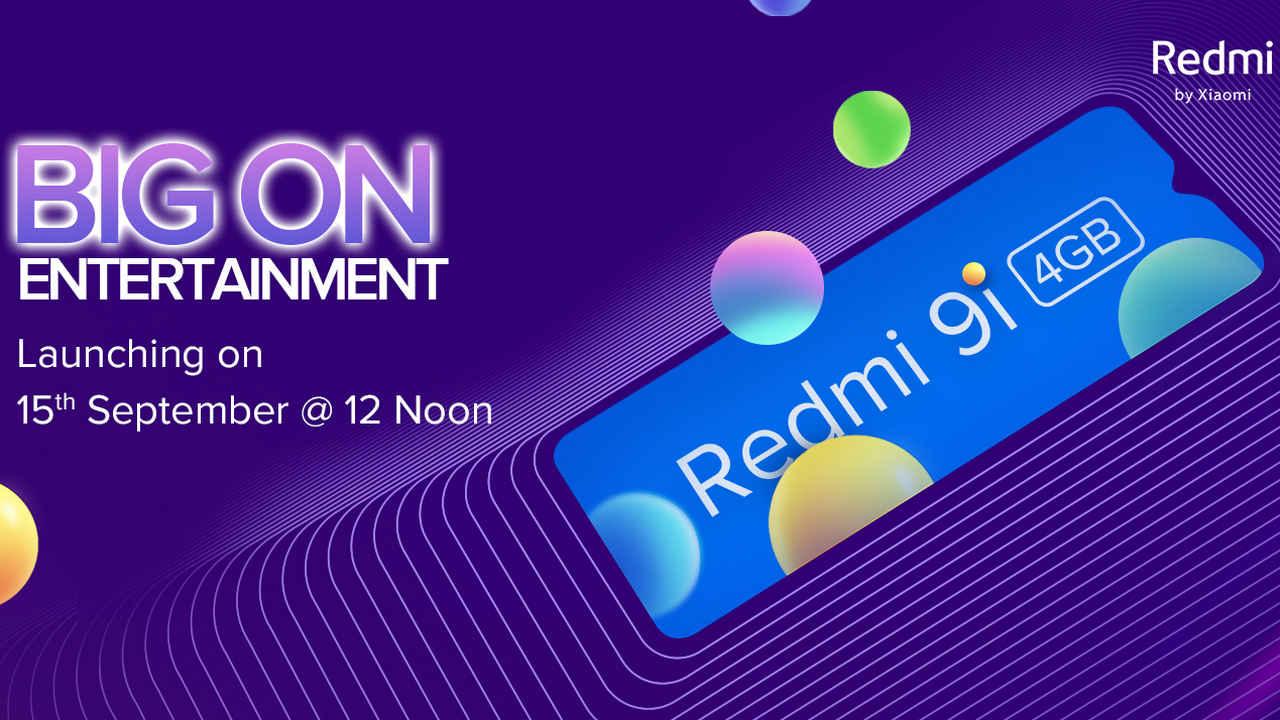 Redmi 9i avec 4 Go de RAM et écran à encoche en forme de goutte d'eau sera lancé en Inde le 15 septembre