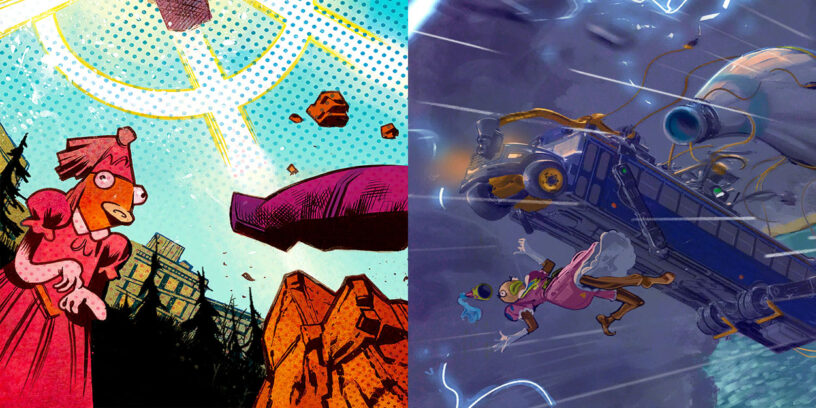 Fortnite Princess Fishstick dans deux écrans de chargement différents