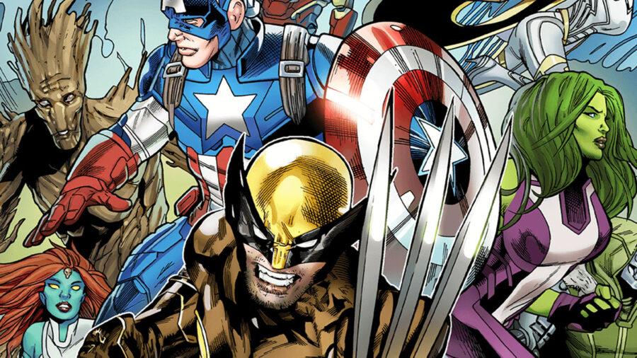 Dessins de bandes dessinées de personnages Marvel dans Fortnite