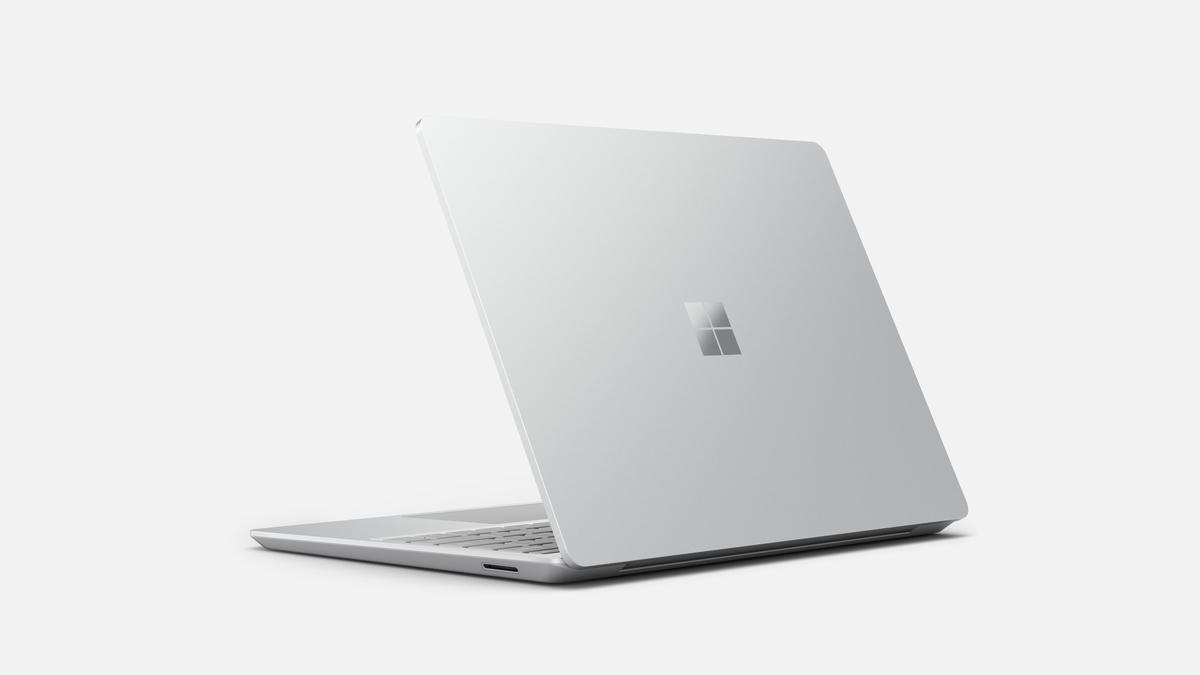 Microsoft Surface Laptop Go Platinum arrière