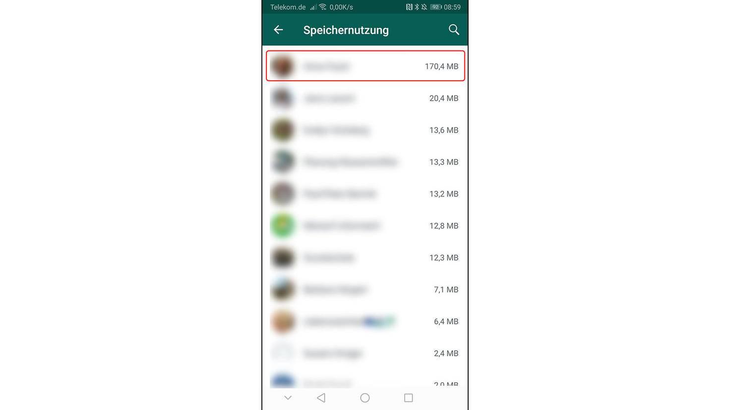 Utilisation des données WhatsApp