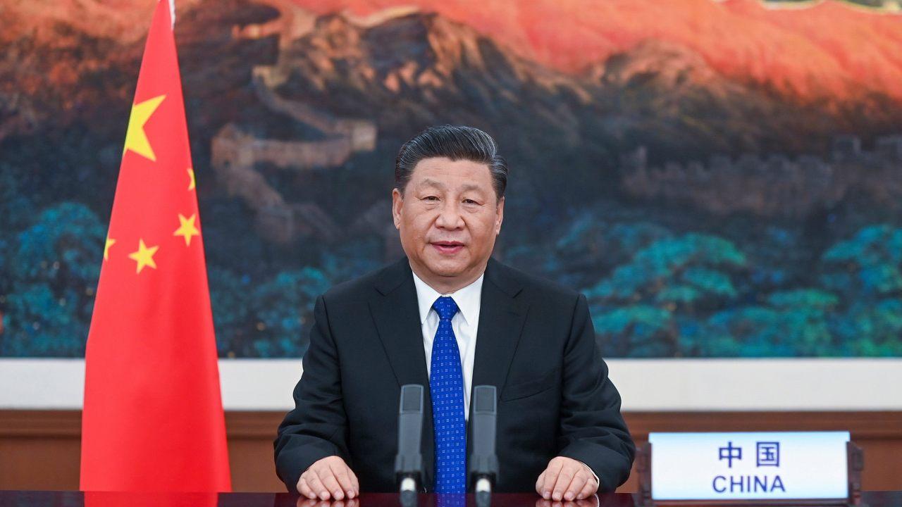 Le président Xi Jinping s'exprimant lundi à l'Assemblée mondiale de la Santé.  Image: OMS / AP