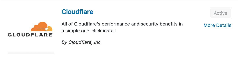 Plugin Cloudflare pour WordPress