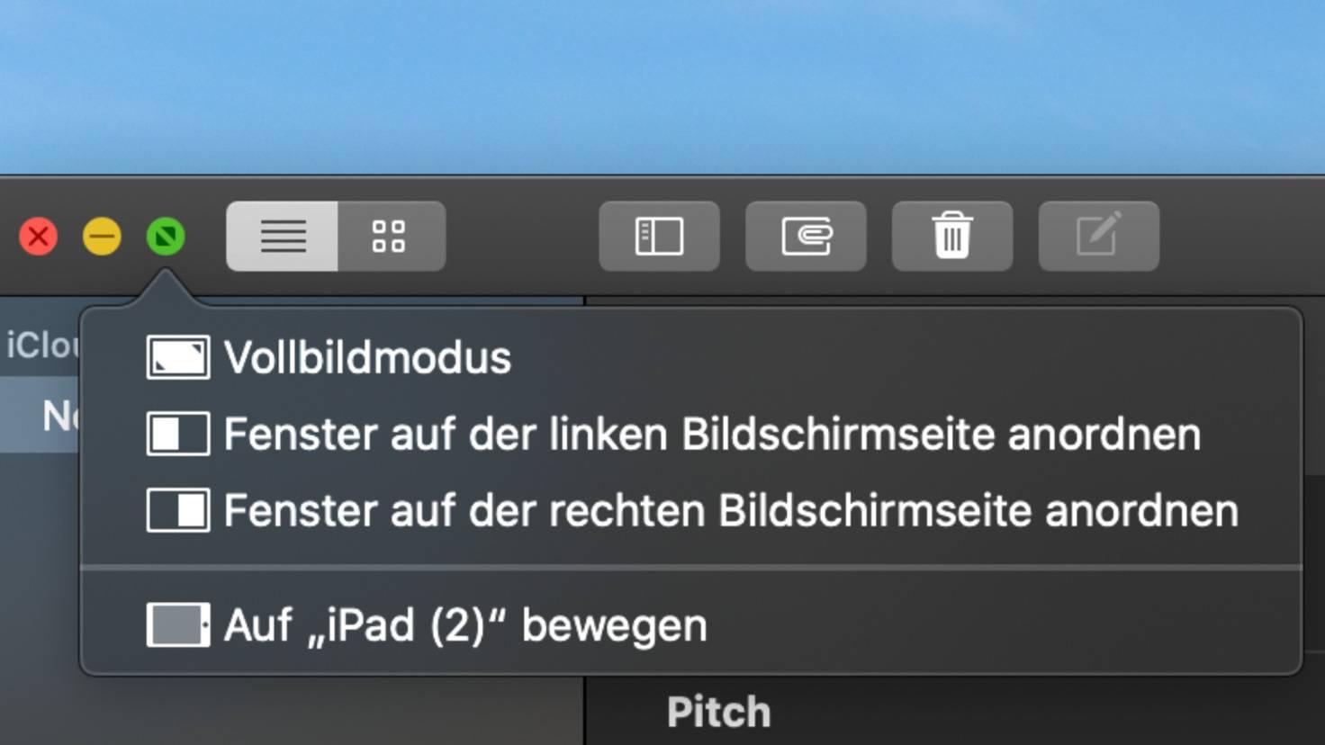 Bouton vert MacOS