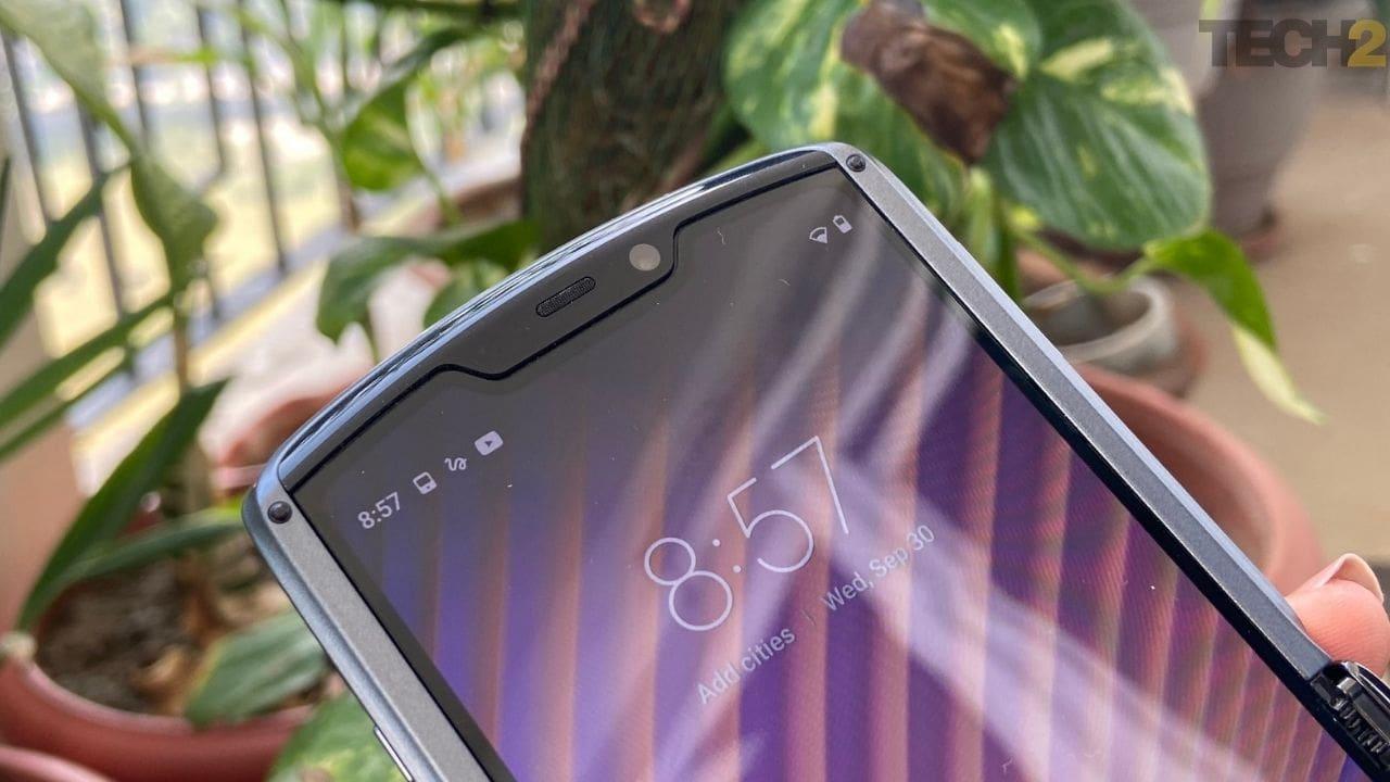 Le Moto Razr 5G arbore un appareil photo de 20 MP pour les selfies. Image: tech2 / Nandini Yadav