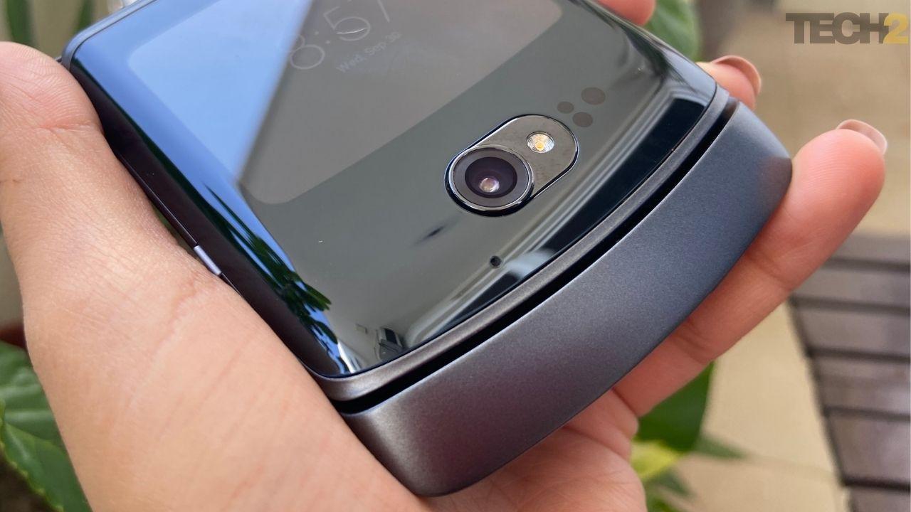 Moto Razr 5G est livré avec une caméra arrière de 48 MP. Image: Tech2 / Nandini Yadav