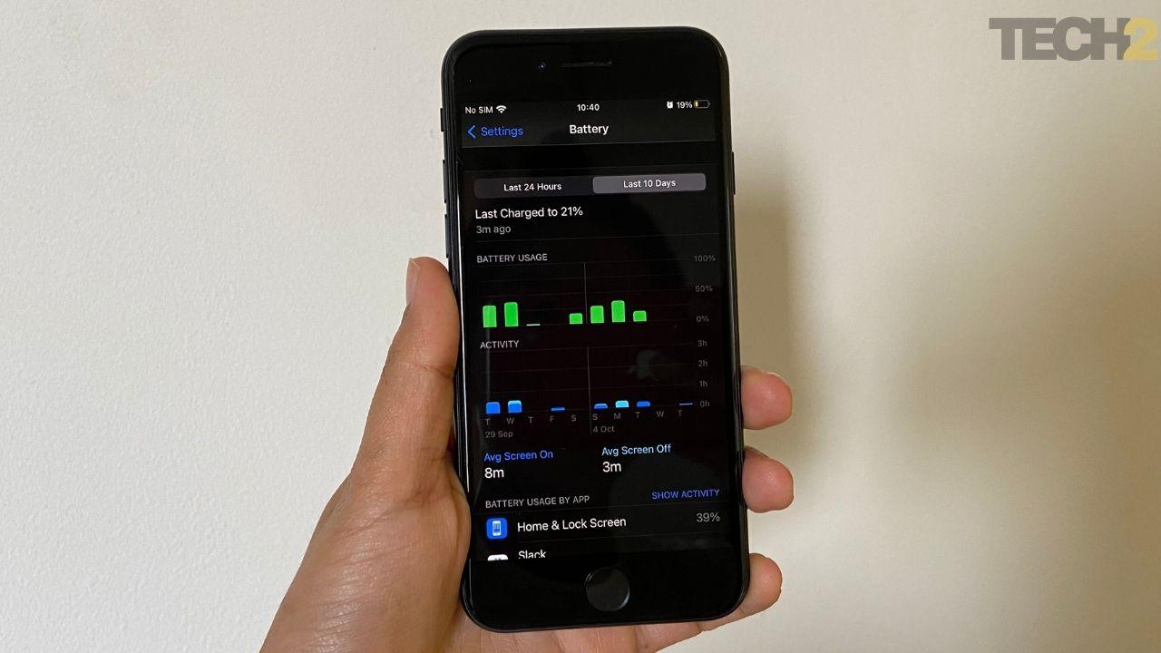 Les performances de la batterie d'Apple iPhone SE sont impressionnantes. Image: tech2 / Nandini Yadav