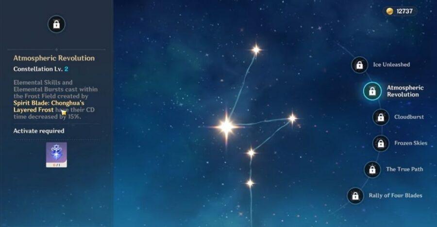Constellation de Chongyun dans Genshin Impact