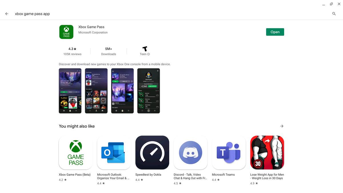 application de passe de jeu microsoft xbox pour android
