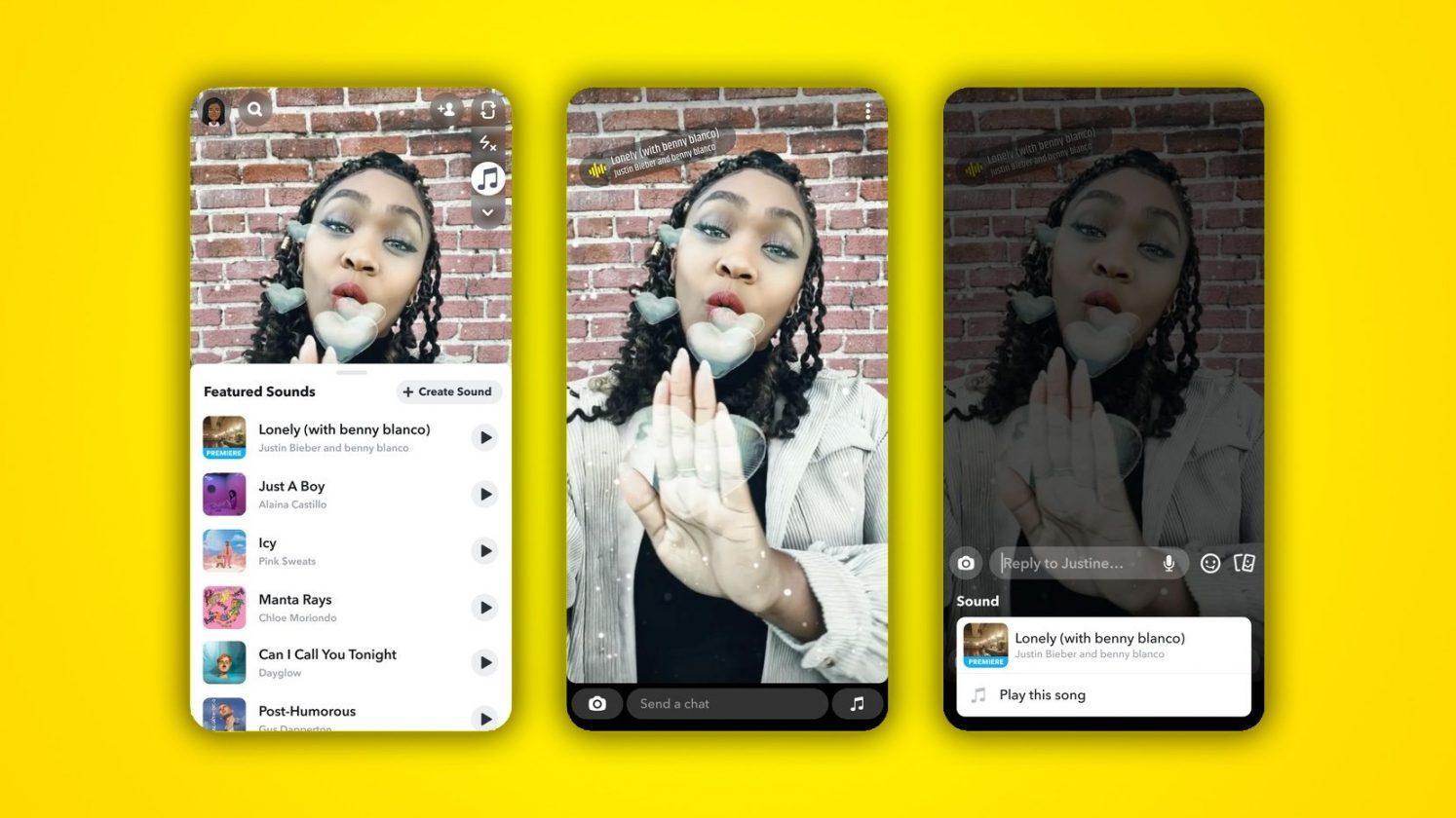 Snapchat Copie également Tiktok Et Lance De Courts Clips Musicaux