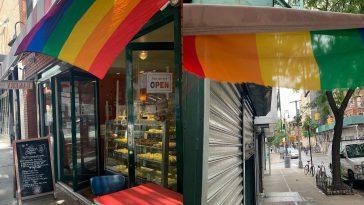 Le Drapeau De La Fierté De La Boulangerie De New