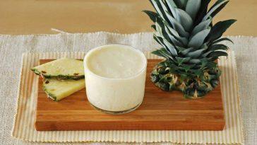 Recette De Smoothie à L'ananas Avec Du Lait D'avoine