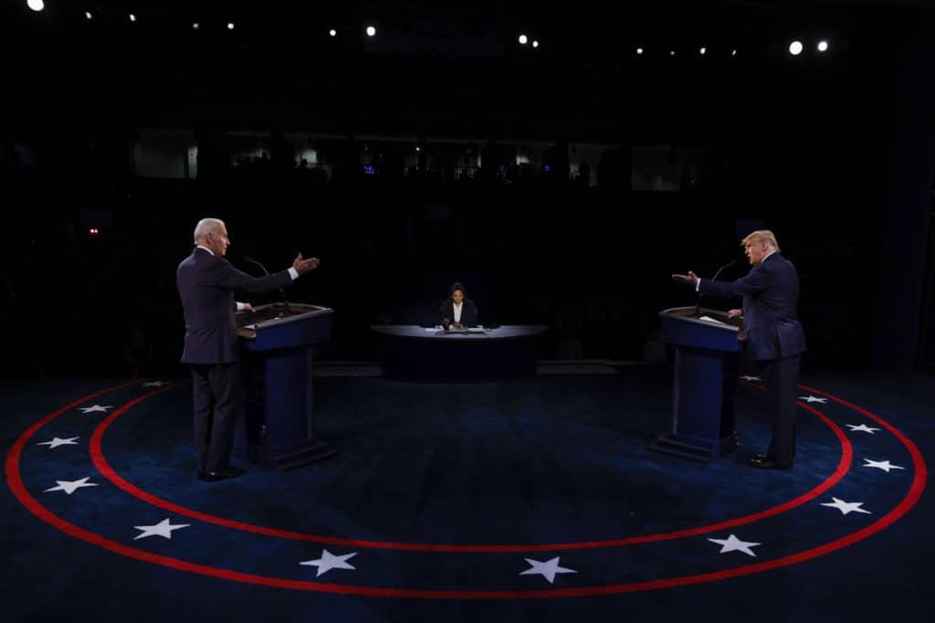 Le dernier match de combat de Joe Biden et Donald Trump a vu les droits des LGBT + ne pas encore parler.  Ils ne l'ont pas fait depuis 2008, prévient un groupe de surveillance de haut niveau.  (Jim Bourg-Pool / Getty Images)