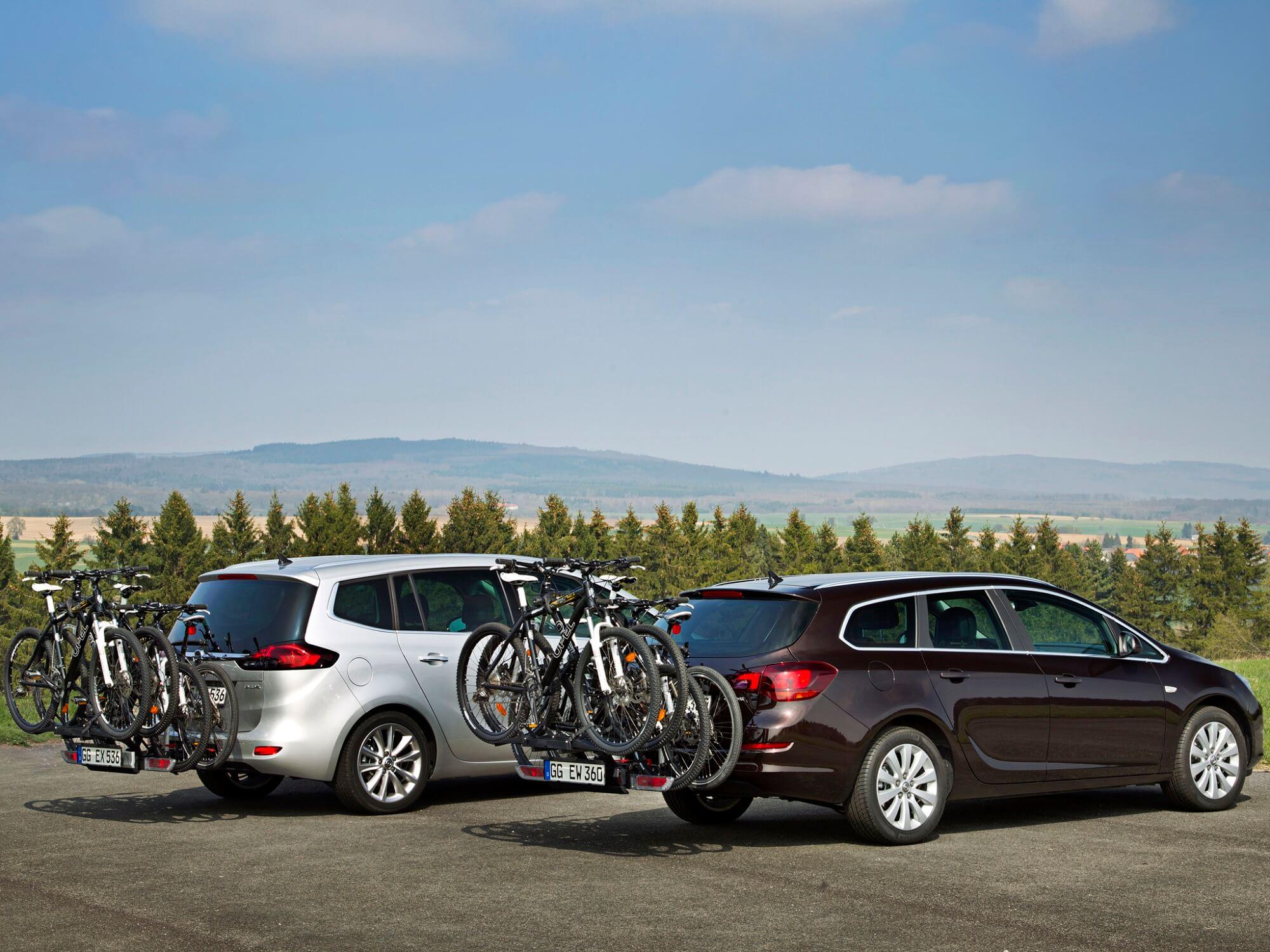 Vélos de transport Opel Zafira et Astra