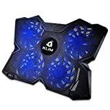 KLIM ™ Wind - Base de refroidissement pour ordinateur portable + support pour ordinateur portable le plus puissant + Fast Action 1200 RPM + support pour ordinateur portable de jeu + bleu + nouvelle version 2020