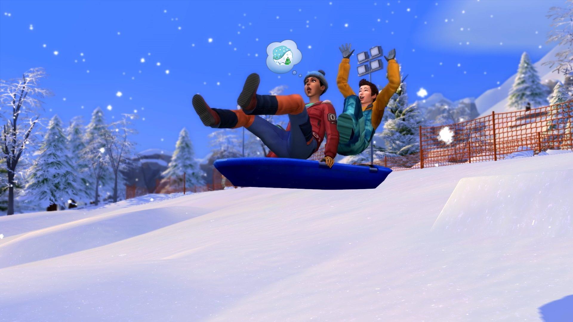 Les Sims 4 glissent vers le paradis de la neige